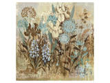 Floral Frenzy Blue II Prints by Alan Hopfensperger