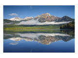Patricia Lake Reflection Poster by Mike Grandmaison
