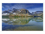 Crowfoot Mountain Reflected in Bow Lake Prints by Mike Grandmaison