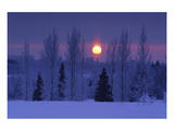 Hoarfrost Sunset Prints by Mike Grandmaison