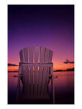 Chair at Dusk Posters by Mike Grandmaison