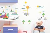 The Hippo Family Vinilo decorativo