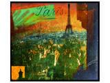 Paris Rooftops Kunstdruck von Chris Vest