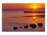 Lake Manitoba Sunrise Prints by Mike Grandmaison