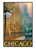 Chicago Lion Poster von Chris Vest