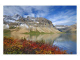 Bow Lake in Autumn Prints by Mike Grandmaison