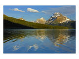 Bow Lake Reflection Posters by Mike Grandmaison