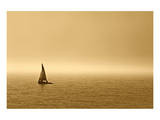 Sailing in Fog Print by Mike Grandmaison