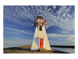 Lighthouse at Wood Islands Prints by Mike Grandmaison