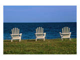 Chairs by the Ocean II Prints by Mike Grandmaison