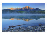 Morning at Patricia Lake Prints by Mike Grandmaison
