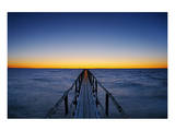 Pier on Lake Winnipeg Posters by Mike Grandmaison