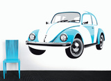 VW Beetle - Blue Autocollant mural