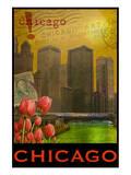 Chicago im Gegenlicht Poster von Chris Vest