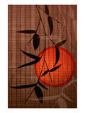 Bamboo and Red Sun II Art by Christine Zalewski