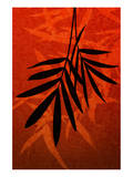 Bamboo Shade on Red II Posters by Christine Zalewski