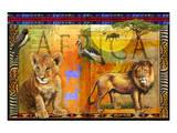 Lion dans la savane Posters par Chris Vest