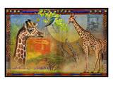 African Giraffe Kunstdrucke von Chris Vest