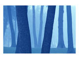 Blue Tree Poster by Mike Grandmaison