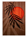 Bamboo and Red Sun I Posters by Christine Zalewski