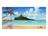 Bora Bora Sun Posters by Rick Novak