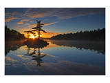Georgian Bay Sunrise Print by Mike Grandmaison