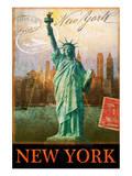 New York, Statue of Liberty, Manhattan Kunstdruck von Chris Vest