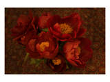 Red Peonies I Prints by Judy Stalus