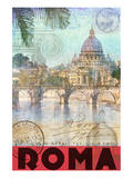 Rome, Saint Peter, Tiber River Poster von Chris Vest