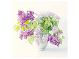 Lilac Bouquet Art by Judy Stalus
