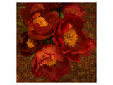 Red Peonies II Prints by Judy Stalus