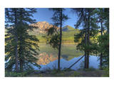 Pyramid Lake through the Trees Poster by Mike Grandmaison