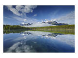 Clouds Reflected in Herbert Lake Art by Mike Grandmaison