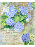 Blue Hydrangea I Prints by Roberta Collier Morales