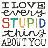 I Love Every Stupid Thing About You Plakater af Michael Mullan