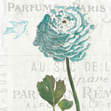 Floral Messages on Wood II Blue Prints by Sue Schlabach