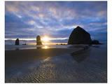 Cannon Beach Sunset Print by Richard Desmarais