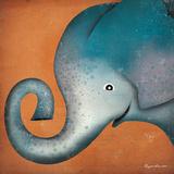 Elephant WOW Plakat af Ryan Fowler