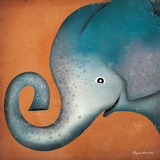 Elephant WOW Print by Ryan Fowler