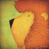 Lion WOW Poster von Ryan Fowler