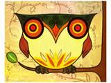 Yellow Owl Prints by Penny Keenan