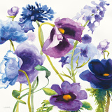 Blue and Purple Mixed Garden I Prints by Shirley Novak