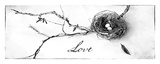 Nest and Branch II Love Poster von Debra Van Swearingen