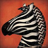 Zebra WOW Plakater af Ryan Fowler