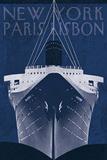 Passage Atlantique Blueprint Poster by Wild Apple Portfolio