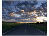 La Palouse Steptoe Road at Dawn Posters by Richard Desmarais
