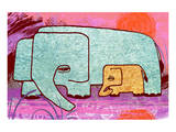 Elephants III Print by Penny Keenan