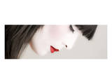 Geisha Profile Plakat av Richard Desmarais