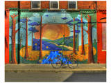 Wall Painting with Bike Posters by Richard Desmarais