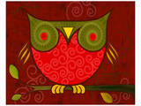 Red Owl Posters by Penny Keenan
